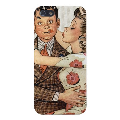 Retro 1940s Kissing Couple Case For iPhone 5