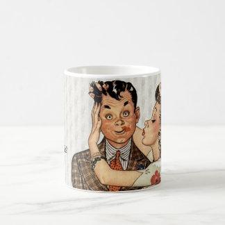Retro 1940s Kissing Couple Coffee Mug