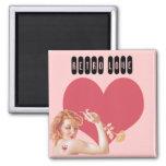 Retro 1940s Love 2 Inch Square Magnet