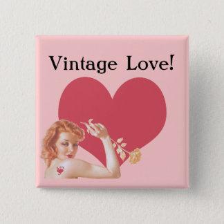 Retro 1940s Love Button