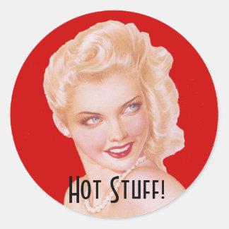 Retro 1940s Love Classic Round Sticker
