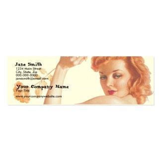 Retro 1940s Love Mini Business Card