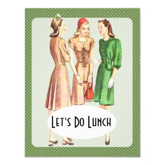 Retro 1940s Luncheon V1 4.25x5.5 Paper Invitation Card