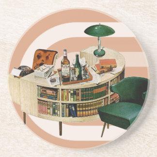 Retro 1940s Office Sandstone Coaster