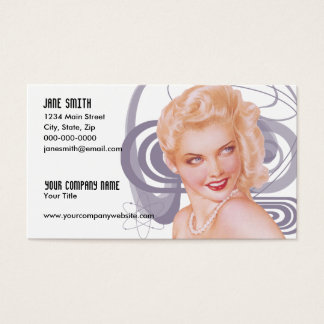Retro 1940s Pinup Business Card