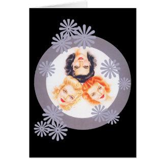 Retro 1940s Pinup Girls Card