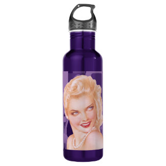 Retro 1940s Pinup 24oz Water Bottle