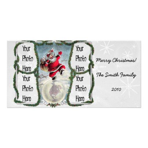 Retro 1940s Santa Personalized Photo Card