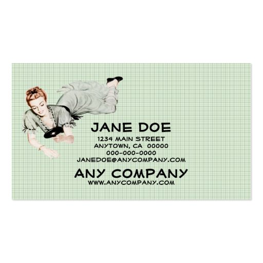 Retro 1940s Woman Looking in a Mirror Double-Sided Standard Business Cards (Pack Of 100)