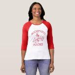 "Retro 1946 Women&#39;s Pro Baseball Rockford Peaches T-Shirt<br><div class=""desc"">Retro 1946 Women&#39;s Pro Baseball Rockford Peaches</div>"