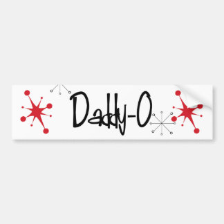 Retro 1950 DADDY-0 Bumper Sticker