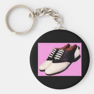 Retro 1950 Saddle Shoe Keychain