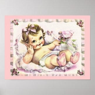 Retro 1950s Baby Poster