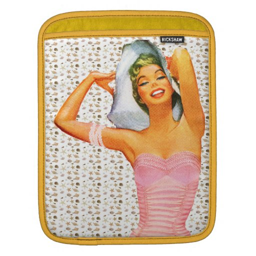 Retro 1950s Beach Beauty iPad Sleeves