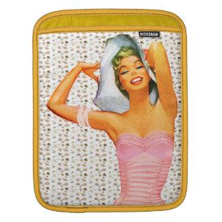 Retro 1950s Beach Beauty Sleeve For iPads