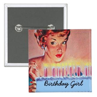 Retro 1950s Birthday 2 Inch Square Button