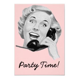 Retro 1950s Birthday Party V2 Card