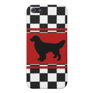 Retro 1950s Classic Pattern with Golden Retriever iPhone SE/5/5s Case