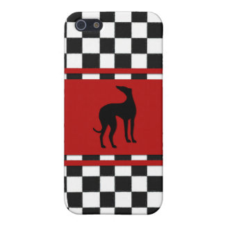 Retro 1950's Classic with Greyhound Dog iPhone 5/5S Case