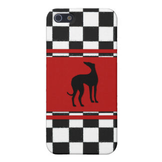 Retro 1950s Classic with Greyhound Dog iPhone SE/5/5s Cover