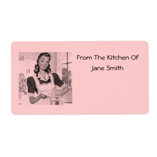Retro 1950s Cook Kitchen Labels