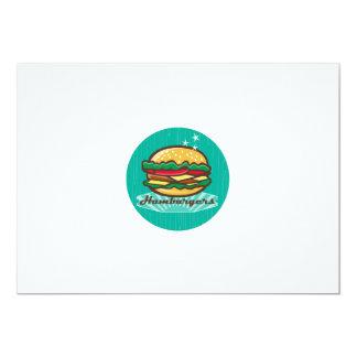 Retro 1950s Diner  Hamburger Circle Card