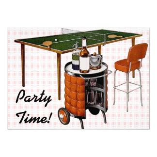 Retro 1950s Fun and Games Birthday 5x7 Paper Invitation Card