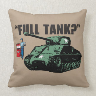 "Retro 1950s gas station attendant: ""Full tank?""… Throw Pillow"