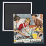"""Retro 1950s housewife &quot;remember the arsenic?&quot; magnet<br><div class=""""desc"""">Retro 1950s housewife &quot;did you remember the arsenic?&quot; fridge magnet.</div>"""