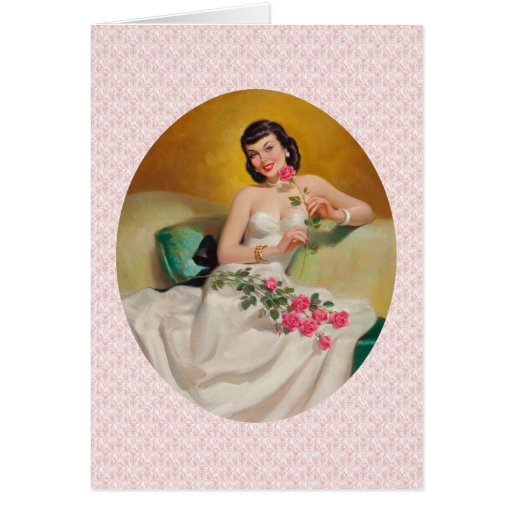 Retro 1950s Love Greeting Card
