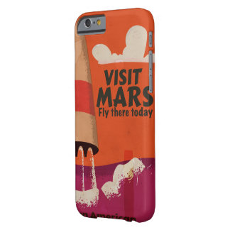 Retro 1950s Mars Vacation Poster Barely There iPhone 6 Case