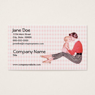 Retro 1950s Mom and Baby Business Card