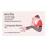 Retro 1950s Mom and Baby Business Card Template