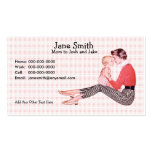 Retro 1950s Mom and Baby Contact Card Business Card
