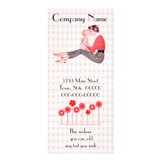 Retro 1950s Mom and Baby Rack Card