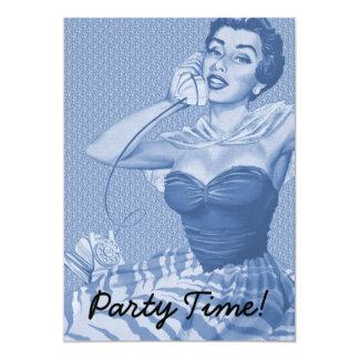 Retro 1950s Party Card