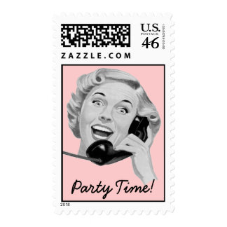 Retro 1950s Party Postage Stamps