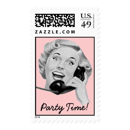 Retro 1950s Party Postage