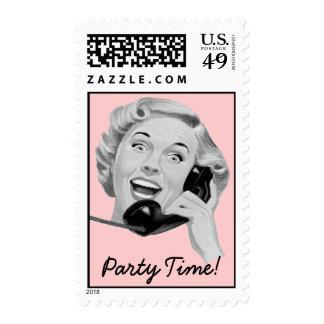 Retro 1950s Party Stamp