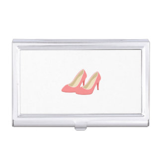 Retro 1950s Pink High Heel Pumps Business Card Case