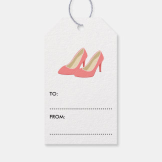 Retro 1950s Pink High Heel Pumps Gift Tags