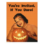 Retro 1950s Pinup Halloween Party Announcements
