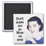 Retro 1950s Pointing Mom 2 Inch Square Magnet