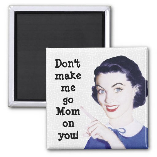 Retro 1950s Pointing Mom Magnet