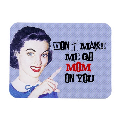 Retro 1950s Pointing Mom Magnets