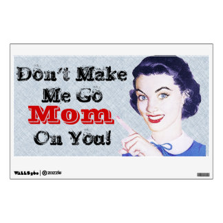 Retro 1950s Pointing Mom Wall Decal