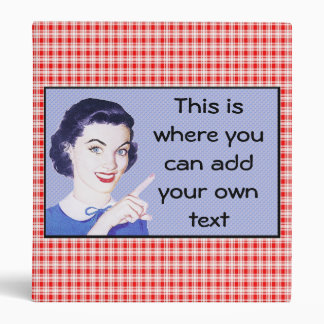 Retro 1950s Pointing Woman 3 Ring Binder