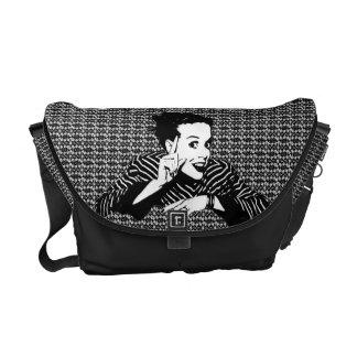 Retro 1950s Scolding Woman Courier Bag