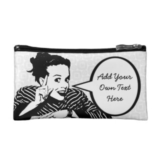 Retro 1950s Scolding Woman Makeup Bag
