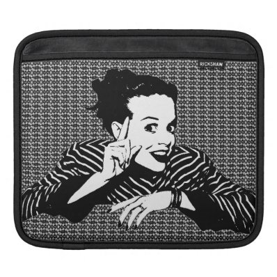 Retro 1950s Scolding Woman Sleeves For iPads